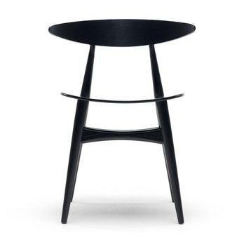 Carl Hansen - Carl Hansen CH33T Chair - black/oak lacquered
