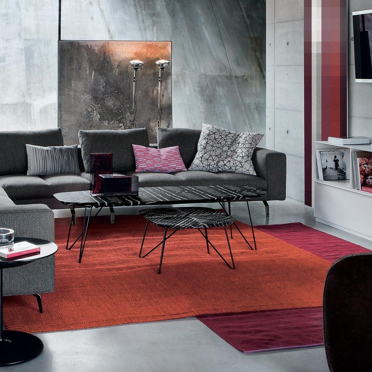 ink couchtisch 60 zanotta. Black Bedroom Furniture Sets. Home Design Ideas