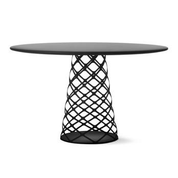 Gubi - Aoyama Tisch Rund - schwarz/Tischplatte Laminat/Gestell schwarz/Ø 130cm
