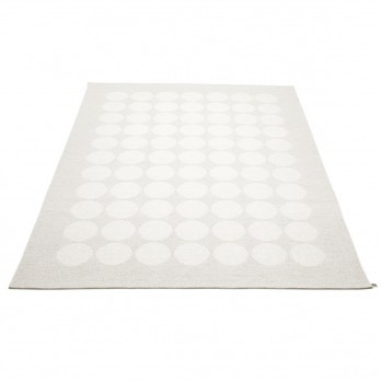 pappelina - Hugo Teppich 180x260cm - metallic weiß/fossilgrau