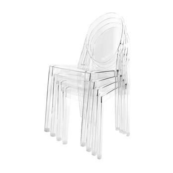 Kartell - Victoria Ghost Stuhl 4er Set - transparent/transparent