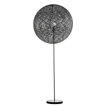 Moooi - Random Light LED-Stehleuchte - Retourware (neuwertig/Einzelstück) - schwarz/Fiberglas/H205cm/Ø80cm