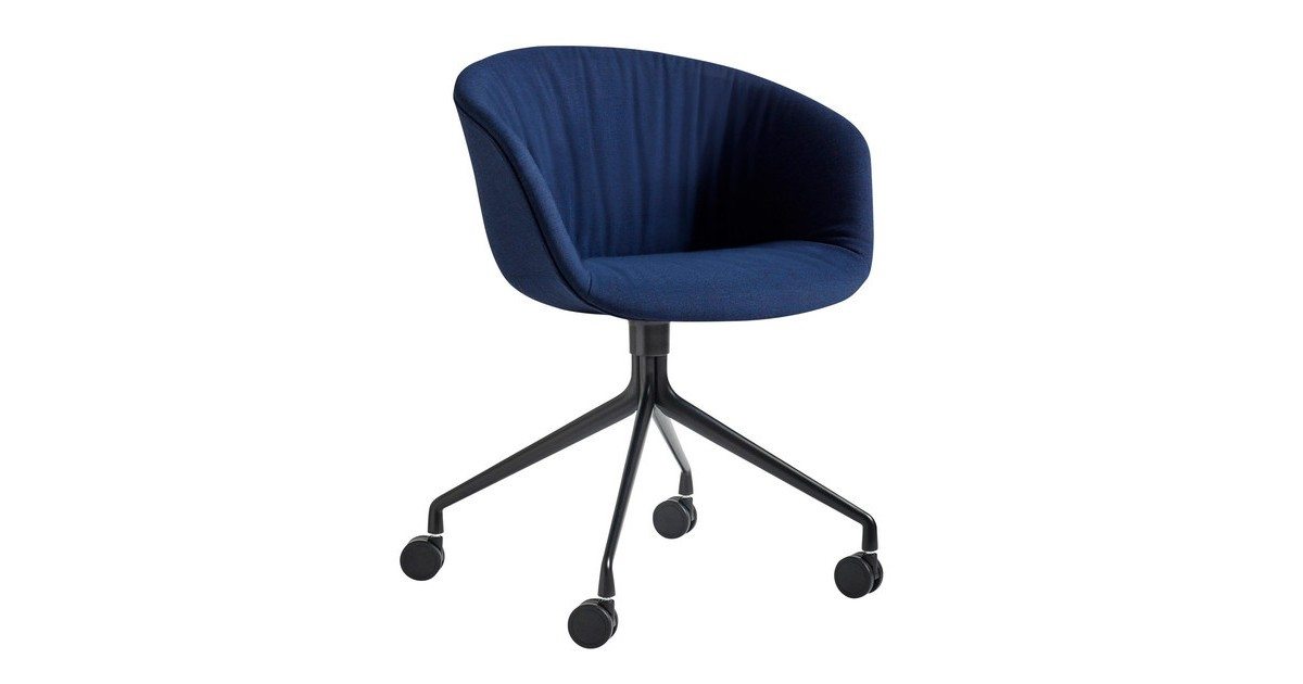 Hay About A Chair Aac 25 Soft Swivel Armchair With Wheels Ambientedirect