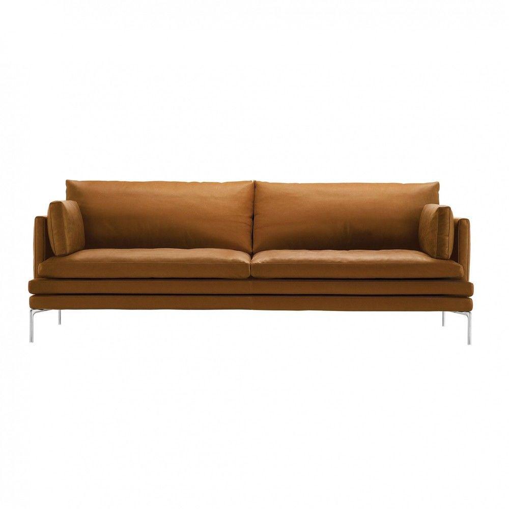 Zanotta - William 2-Seater Sofa 224x87x90cm - cognac/leather Naturale Extra ...