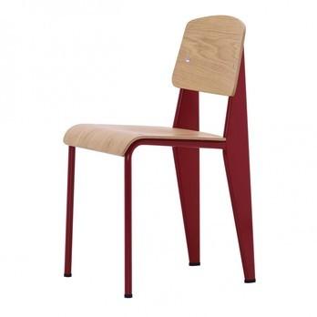 Vitra - Standard Stuhl  - eiche natur/Gestell japanisch rot lackiert