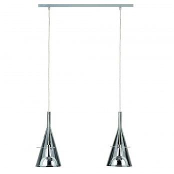 Fontana Arte - Flute 2 Pendelleuchte - chrom/Glas