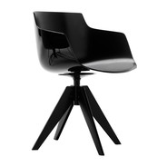 MDF Italia - Flow Slim Armchair VN Base Steel