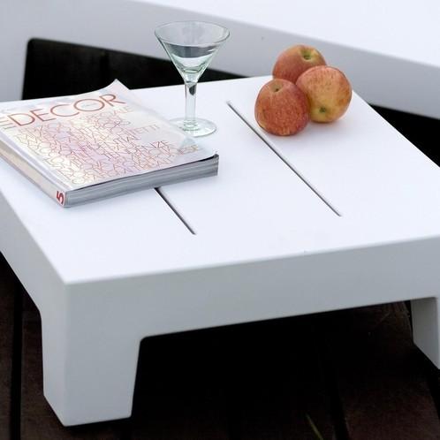 Vondom - Jut Beistelltisch 60 - weiß/matt