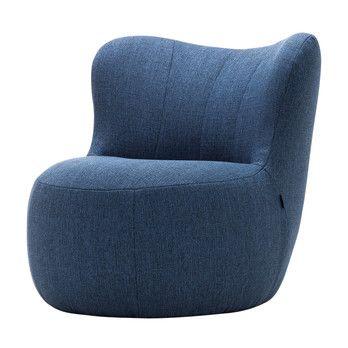 freistil Rolf Benz - freistil 173 Sessel - blau/Stoff 1030 (100% Polyester)
