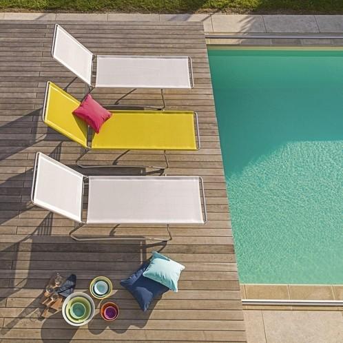 Weishäupl - Balcony Sonnenliege stapelbar Edelstahl