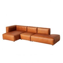 HAY - Mags Soft 3-Sitzer Sofa Leder links 334x153x67cm