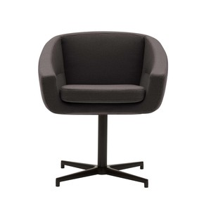 Softline - Aiko Swivel Chair - black/khaki/fabric Vision 443/WxHxD 64x75x55cm/black base