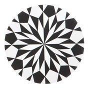 ferm LIVING - Star Schneidebrett - weiß/laminiert/Ø 23cm/Spülmaschinenfest/für heiße Gegenstände geeignet
