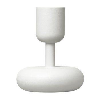 iittala - Nappula Kerzenständer - weiß/lackierter Stahl/H 10.7cm