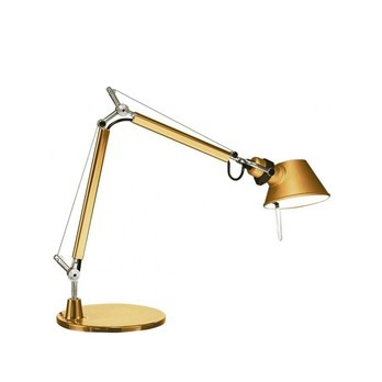 Artemide - Limited Edition Tolomeo Micro Tavolo Gold - gold/glänzend/mit Standfuß/BxH 45x37cm / 470lm