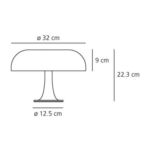 Artemide - Nessino Tischleuchte - Strichzeichnung