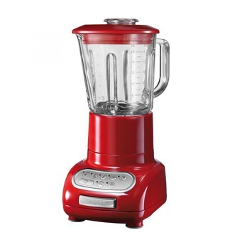 KitchenAid - Artisan 5KSB5553 Standmixer  - empire-rot/lackiert/500W/LxBxH 23.2x21.6x37.5cm/Glasbehäter 1.5l/Küchenmixbehälter 0.75l