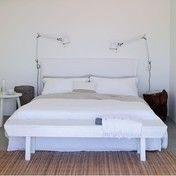 Gervasoni - Ghost 80.G Doppelbett mit Husse - weiß/ohne Matratze/Lattenrost/Stoff Lino bianco/Liegefläche 180x200cm