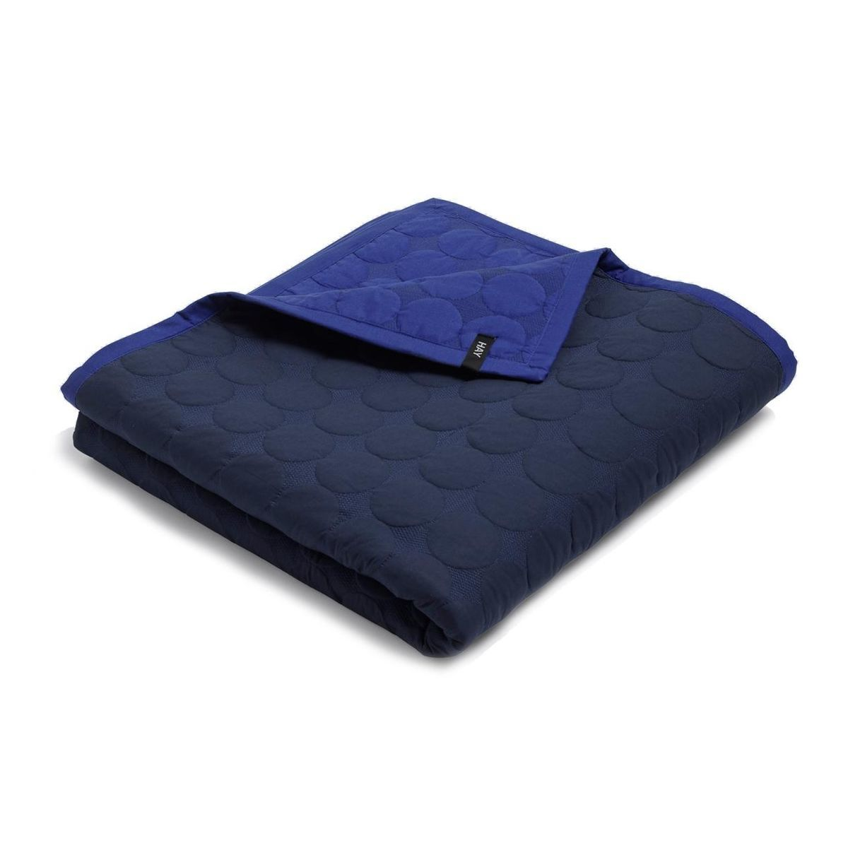 hay mega dot quilt tagesdecke blau 195x245cm. Black Bedroom Furniture Sets. Home Design Ideas