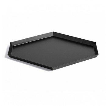 HAY - Kaleido L Ablage/Tablett - schwarz/39x34cm