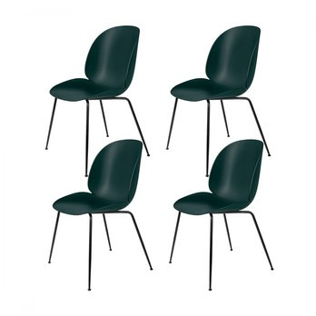 Gubi Beetle Dining Chair Stuhl 4er Set Grün Sitz