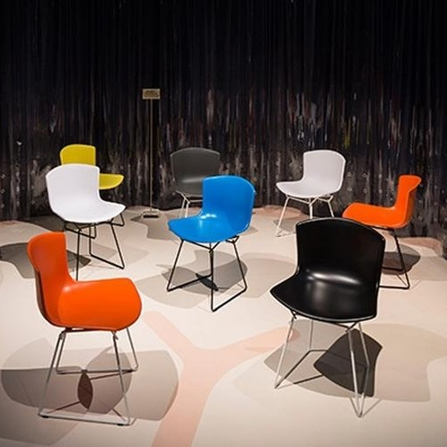 Knoll International - Bertoia Plastic Stuhl Gestell schwarz