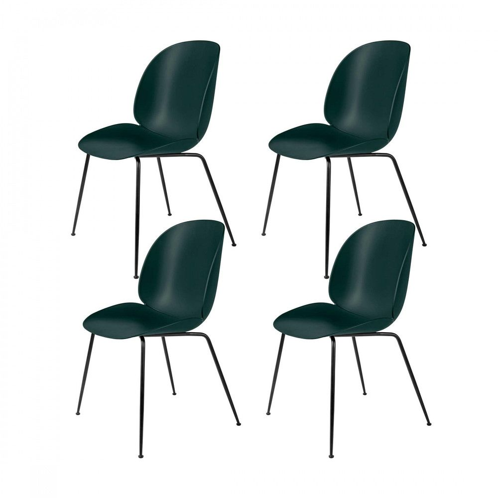 beetle dining chair set of 4 gubi. Black Bedroom Furniture Sets. Home Design Ideas