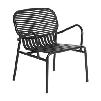 Petite Friture - Week-End Armlehnstuhl - schwarz RAL 9005/gekörnte Epoxidfarbe/BxHxT 66x77x62cm/für Innen- und Außenbereich geeignet