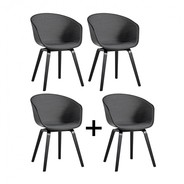 HAY - Promotion Set '3+1' AAC 22 Black Stained Oak Flat Upholstery