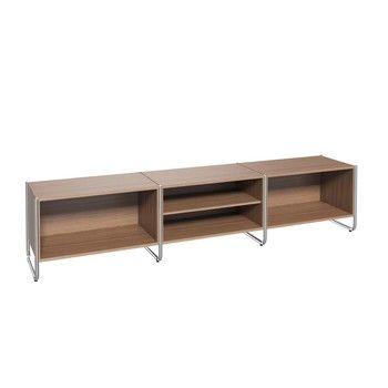 Thonet - Thonet S 290/C301 Sideboard - nussbaum/Gestell Chrom/244x47x54cm