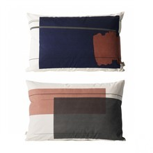 ferm LIVING - Colour Block Kissen 60x40cm