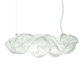 Belux - Mamacloud 71-FL Pendelleuchte - weiß/Polyester/4 Leuchtmittel/Länge 2m