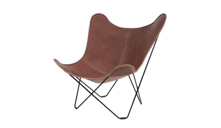 ... Cuero   Leather Mariposa Butterfly Chair   Light Brown/Italian Leather,  Vegetable Tanned/ ...