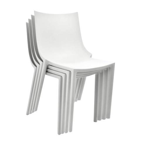 Driade - Bo Stuhl 4er Set - weiß/matt/4 Stück
