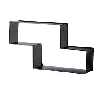 Gubi - Gubi Dedal Stahl-Bücherregal - schwarz/lackiert/90x49,5x19cm