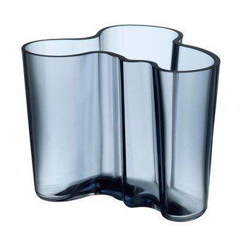 iittala - Alvar Aalto Vase 120mm - regenblau