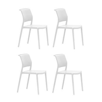 Pedrali - Ara Gartenstuhl 4er Set - weiß