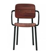 Infiniti - Chaise avec accoudoirs Ekki bicolore