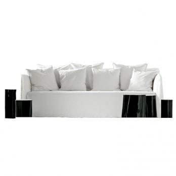 Gervasoni - Ghost 14 Sofa - weiß/Stoff Lino bianco/inkl. 3 Kissen 50x50 weiß/inkl. 4 Kissen 60x60 weiß