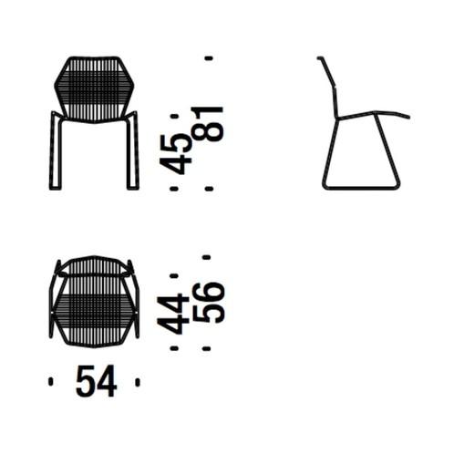 Moroso - Tropicalia Stuhl - Strichzeichnung