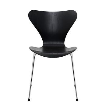 Fritz Hansen - Serie 7™ Stuhl gefärbte Esche Gestell Verchromt