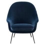 Gubi - Bat Lounge Chair hoch Gestell schwarz