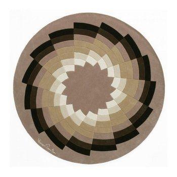 designercarpets - Diamand 1 Teppich - multicolor/Schurwolle/Größe 2/Ø250cm