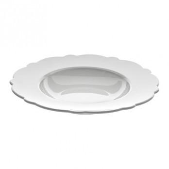 Alessi - Dressed Suppenteller 4 tlg. - weiß/Reliefdekor