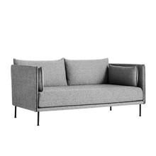 HAY - Silhouette 2 Seater Sofa Steel Base