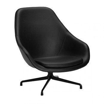 HAY - About a Lounge Chair AAL91 Ledersessel - schwarz/Leder Sierra/Gestell schwarz/84x101x82cm
