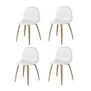 Gubi - Gubi 3D Stuhl mit Holzgestell 4er Set