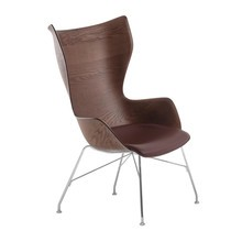 Kartell - K/Wood Armchair Leather