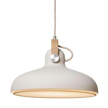 Le Klint - Carronade Large Pendelleuchte Ø40cm - sand/eiche/matt/H x Ø: 27 x 40cm/Incl. LED 15 W/E27/800lm