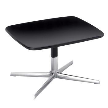 Arper - Aston Beistelltisch - schwarz/MDF/Gestell aluminium glänzend/H x B: 36 x 60cm